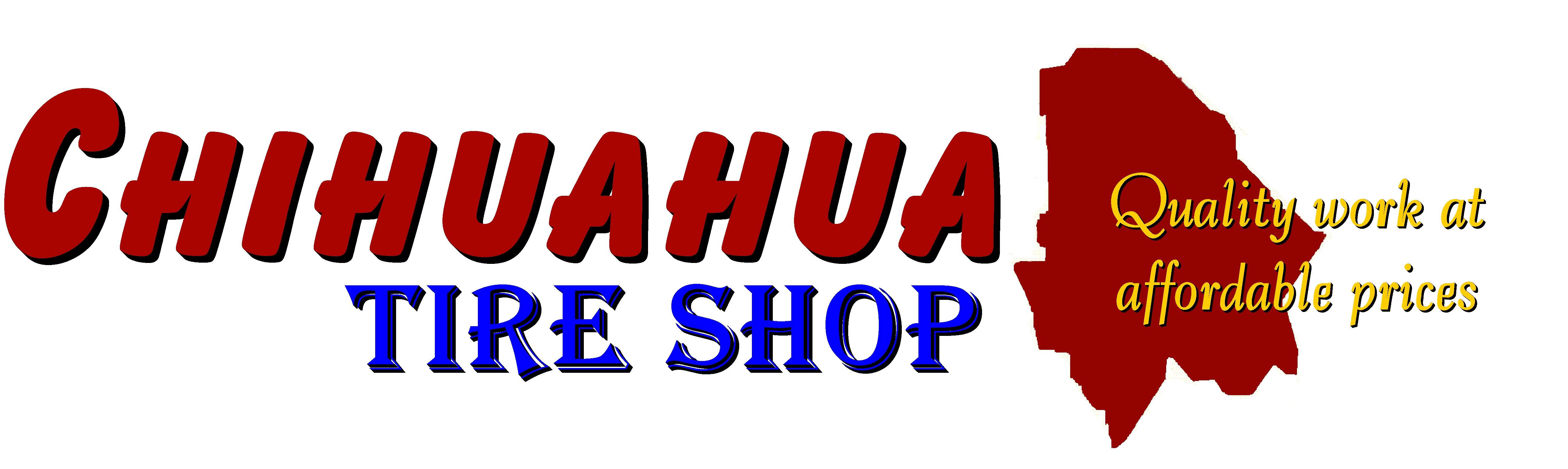 Chihuahua Tire Shop Logo